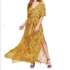 Boho Split Tie-Waist Maxi Dress